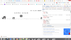 Hack Google Chrome Dino Game with a 1 Line of Code