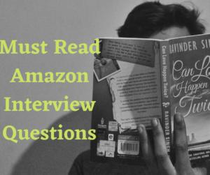 AMAZON INTERVIEW QUESTI