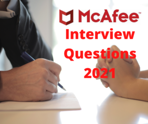 mcafee interview questions