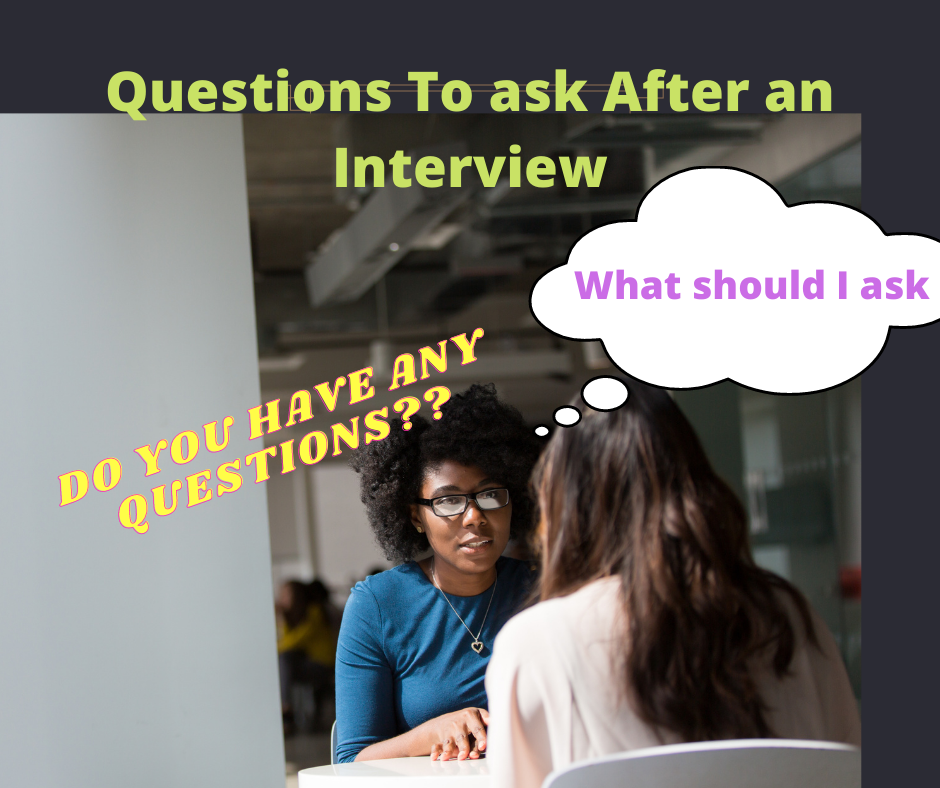 questions to ask after an interview